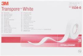 3M Transpore White Tape 12mm (24 rolls)